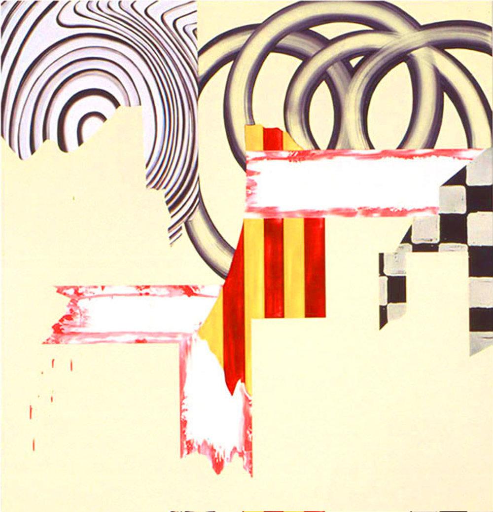 "UNREAL MAGIC , 1999, Oil on linen, 60"" x 54"""
