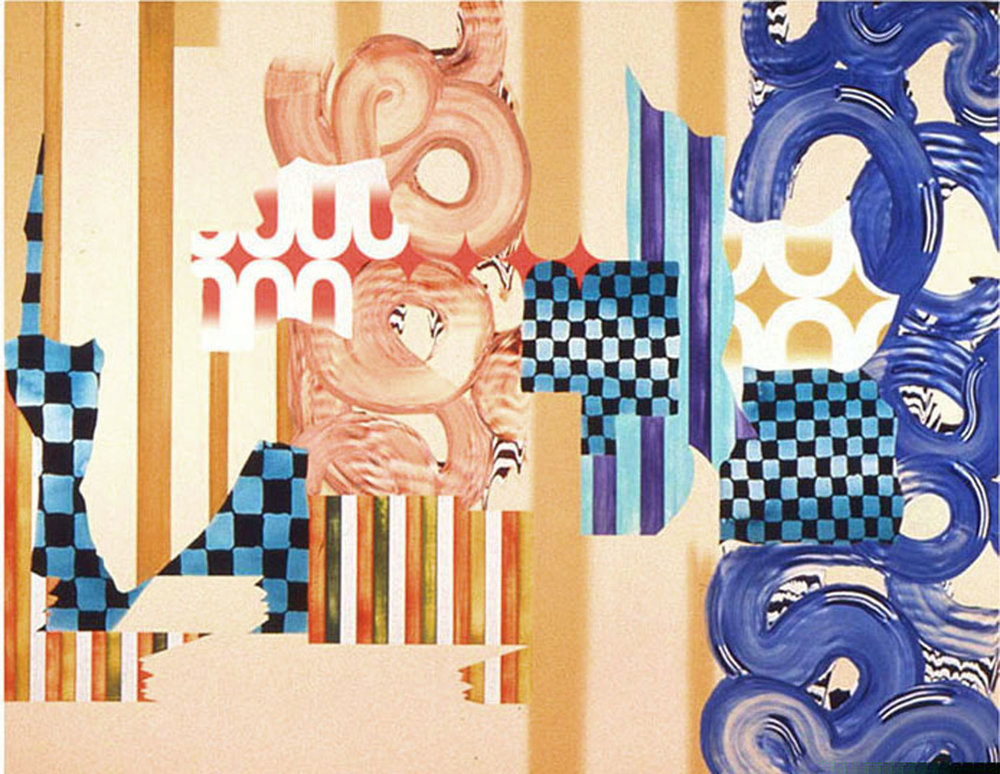"ARTIFICIAL SENSATIONS , 1998, Oil on linen, 80"" x 105"""