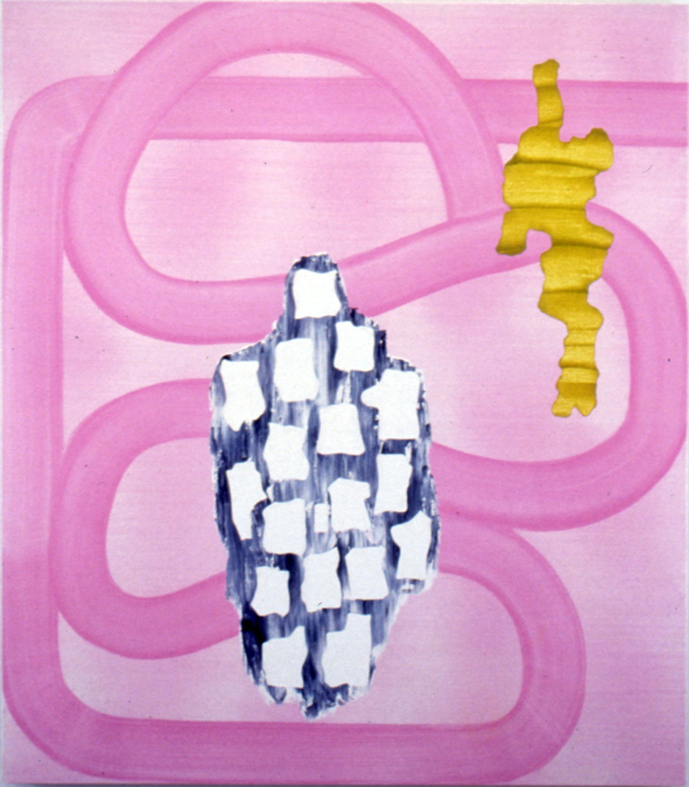 """THE AMORPHOUS MAIDEN , 1992, Oil on linen, 48"""" x 42"""""""