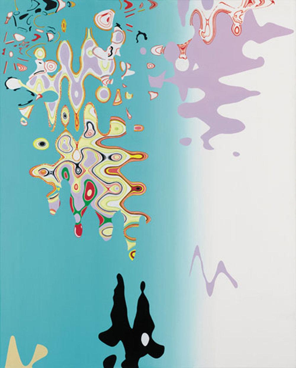 """VOLATILE SERENITY , 2005, Oil on linen, 50"""" x 40"""""""