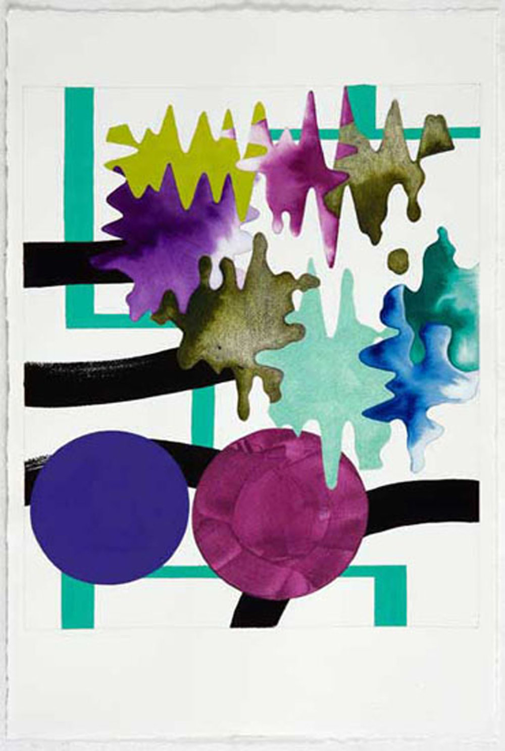 "UNTITLED 3 , 2011, Ink and gouache on paper, 22.5"" x 15"""