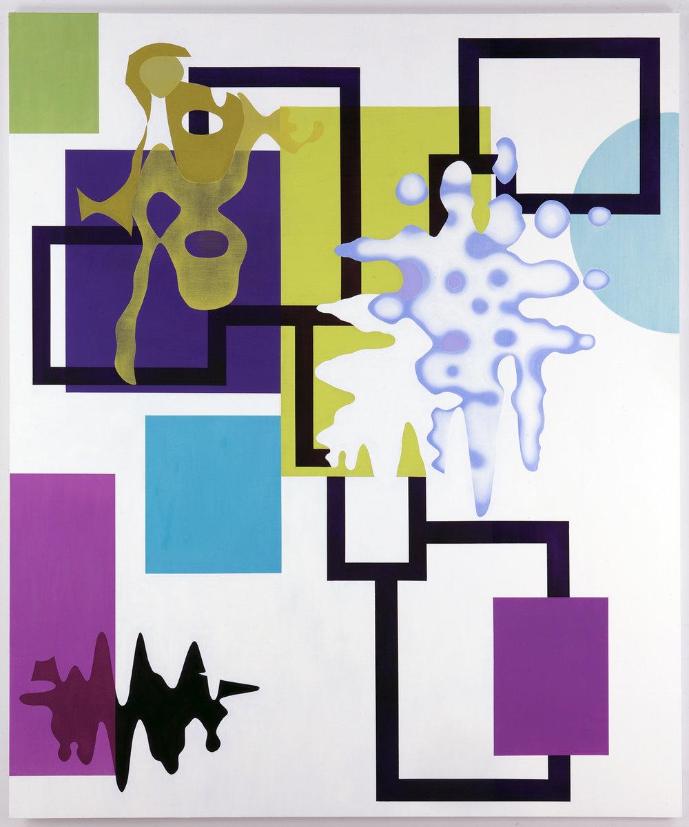 "THUNDEROUS SILENCE , 2009, Oil on linen, 90""x75"""