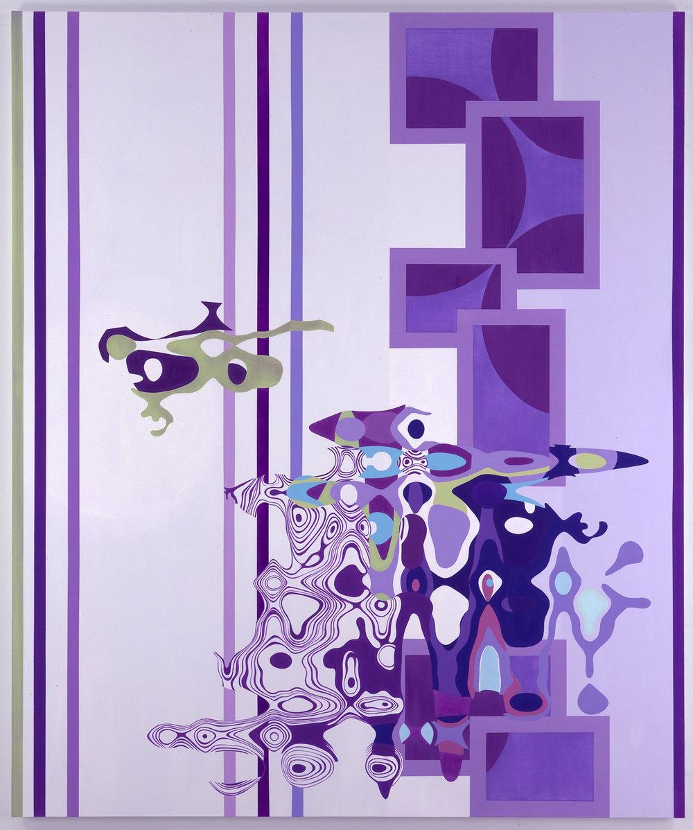 "LUCID AMBIGUITY , 2009, Oil on linen, 90"" x 75"""