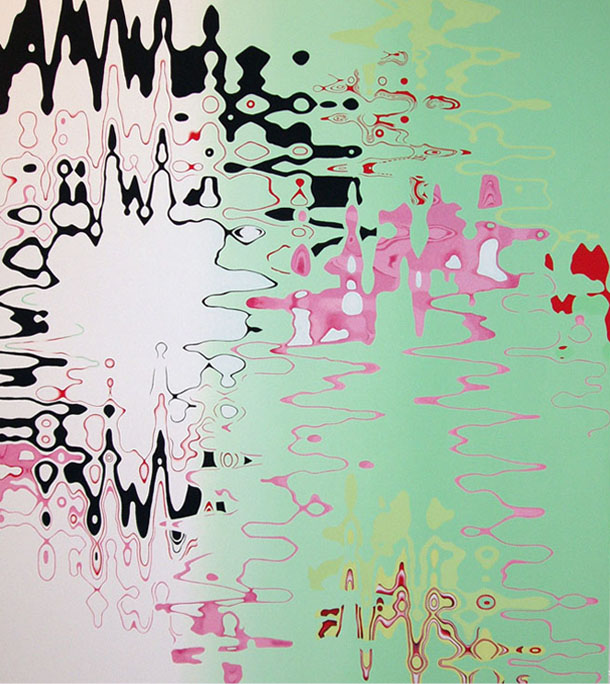 "STATIC FLUIDITY , 2006, Oil on linen, 70"" x 60"""