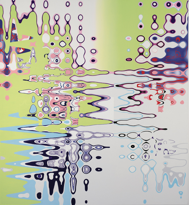 "STABLE FLUX,  2006, Oil on linen, 78"" x 72"""