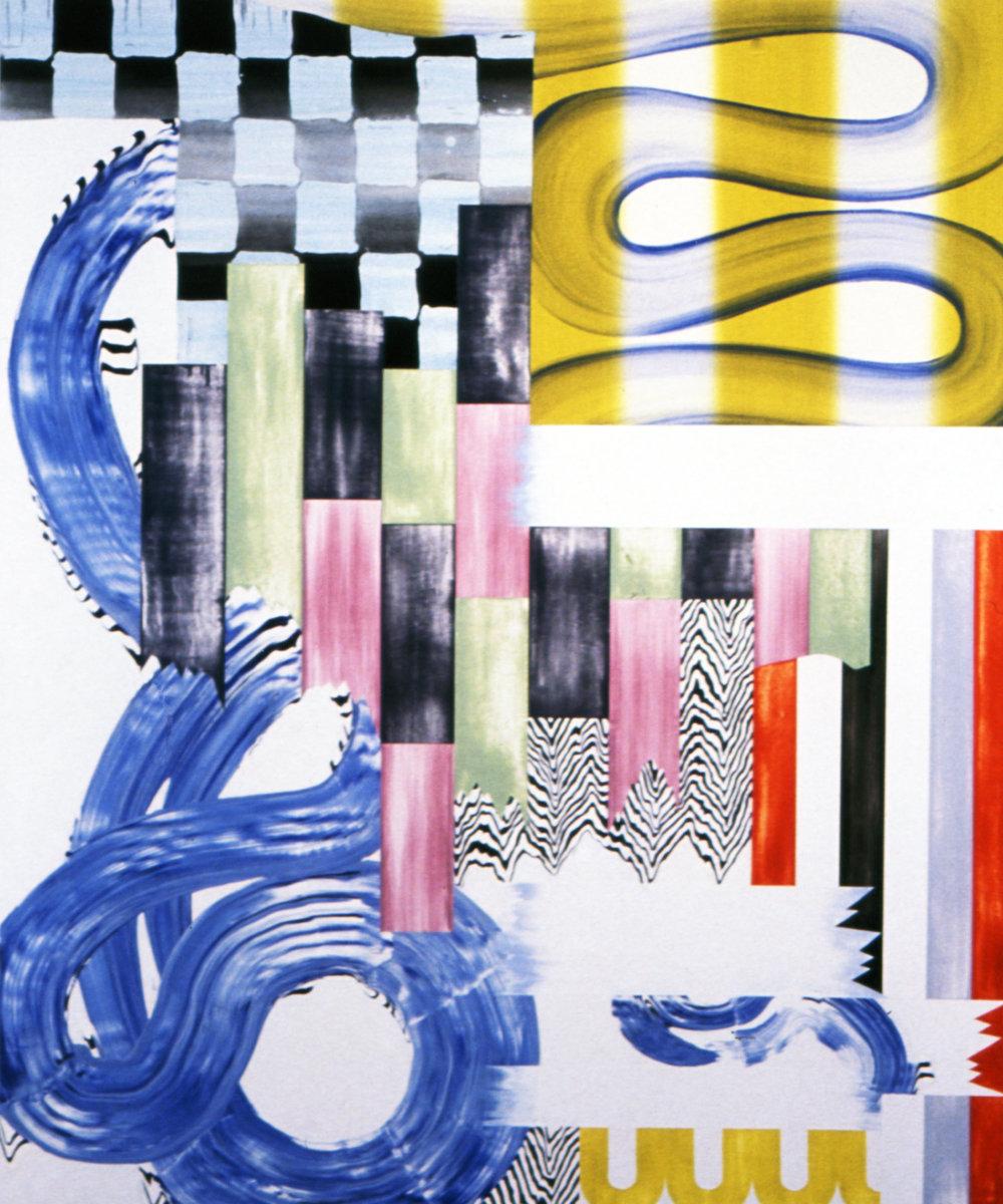 "MISCHEVIOUS ORDER , 1998, Oil on linen, 76.5"" x 63"""