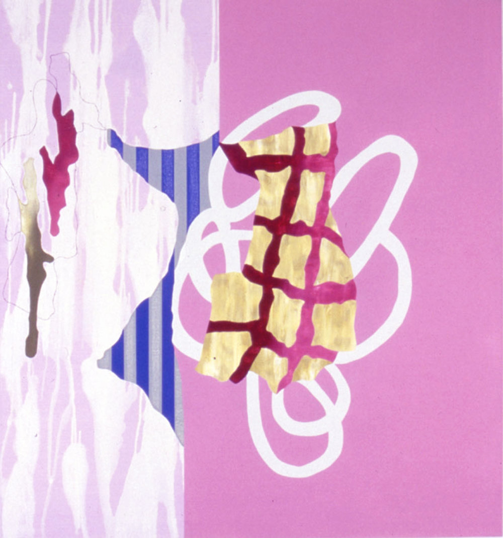 "THE CONTRADICTION OF AFFIRMATION , 1993, Oil on linen, 54"" x 50"""