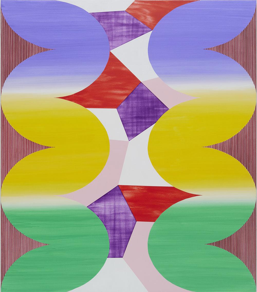 "HALYCON DISTRESS , 2018, Acrylic on canvas, 72 X 64"""