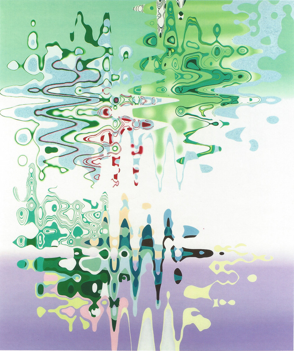 "TUMULTUOUS TRANQUILITY , 2007, Oil on linen, 76"" x 64"""