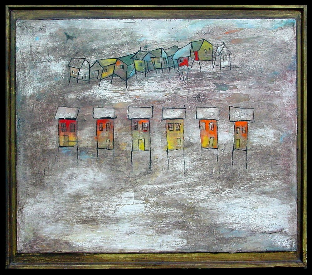 House Line, Oil on Wood, 24x30 in, 2008, sold