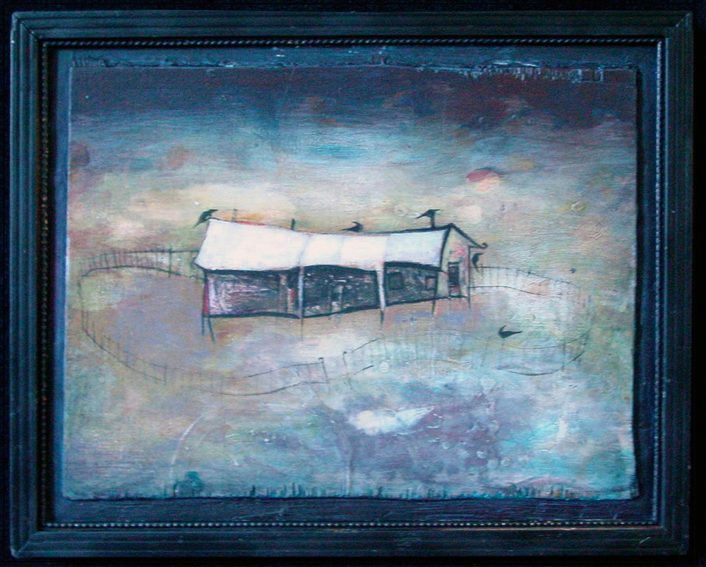 Nocturne House, Oil on Wood, 14x20 inches, Robert Hite, 2009, sold