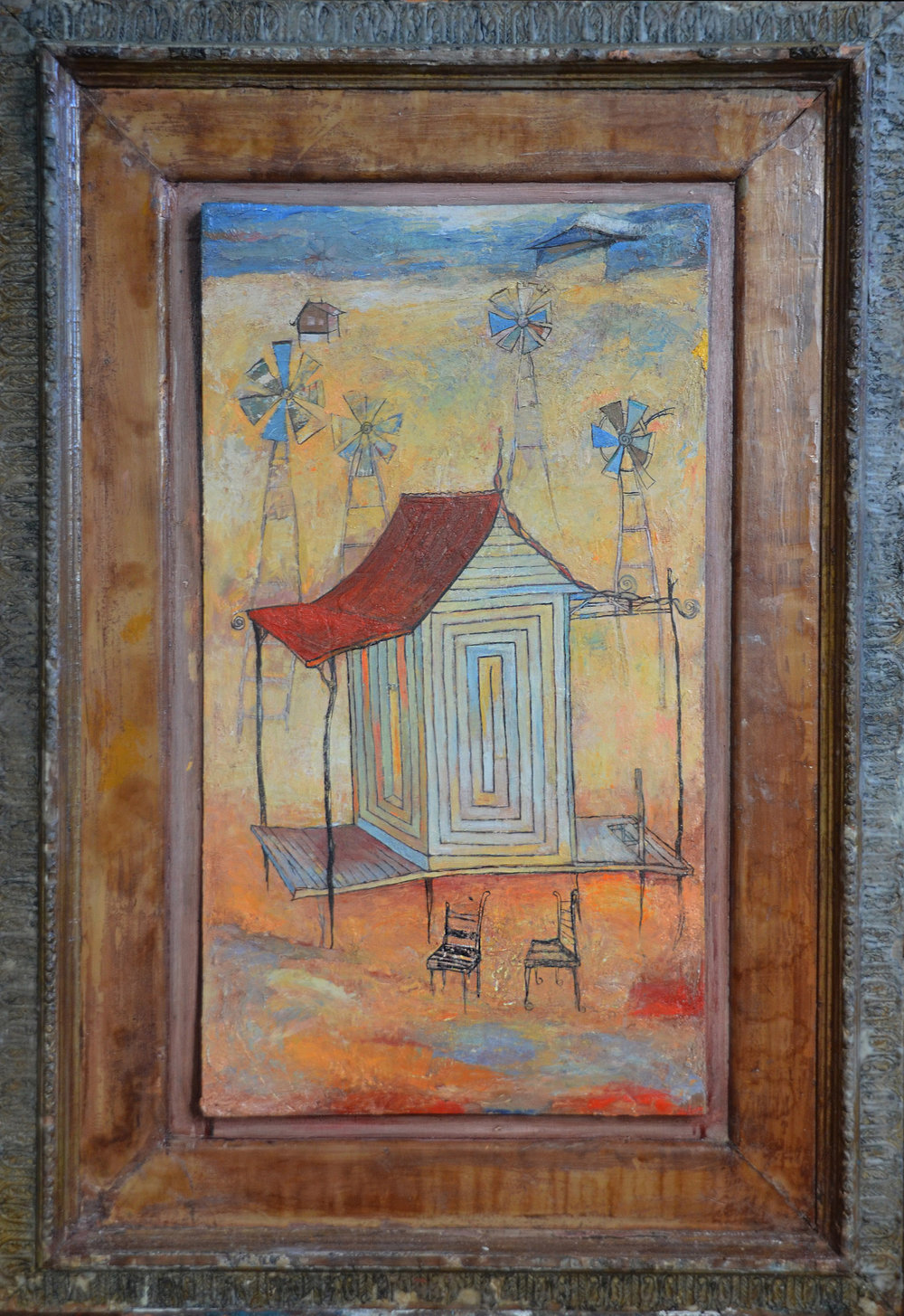 Amaze House, Oil on Wood, 58x36 in, Robert Hite, 2011, sold