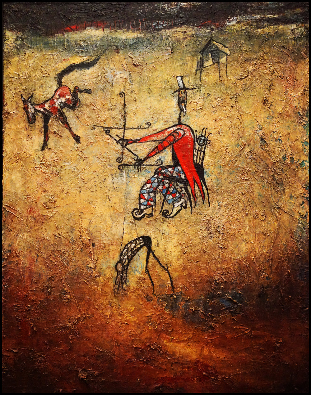 The Puppeteer, Oil on Canvas, 24x18 in, Robert Hite, 2000, sold