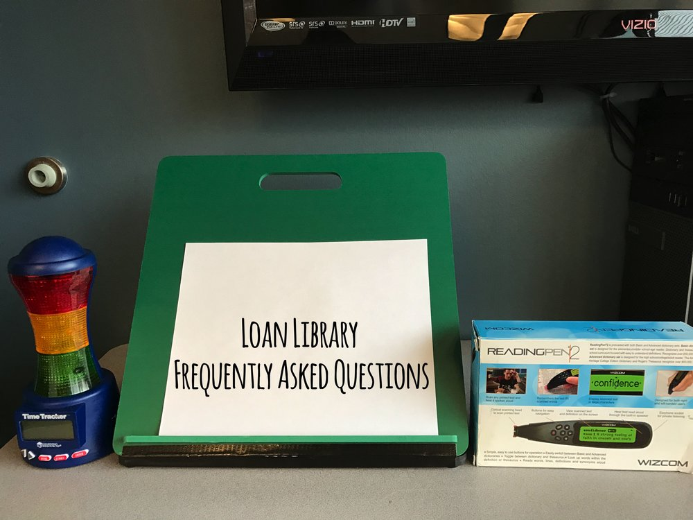 loan library frequently asked questions