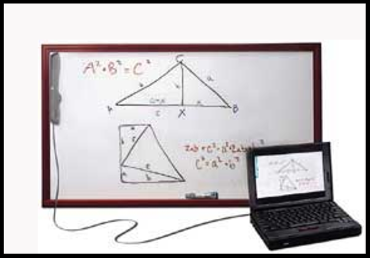 example of math assistive technology, an interactive whiteboard
