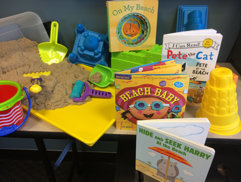 Sensory Kinetic Sand with Beach Books Kit