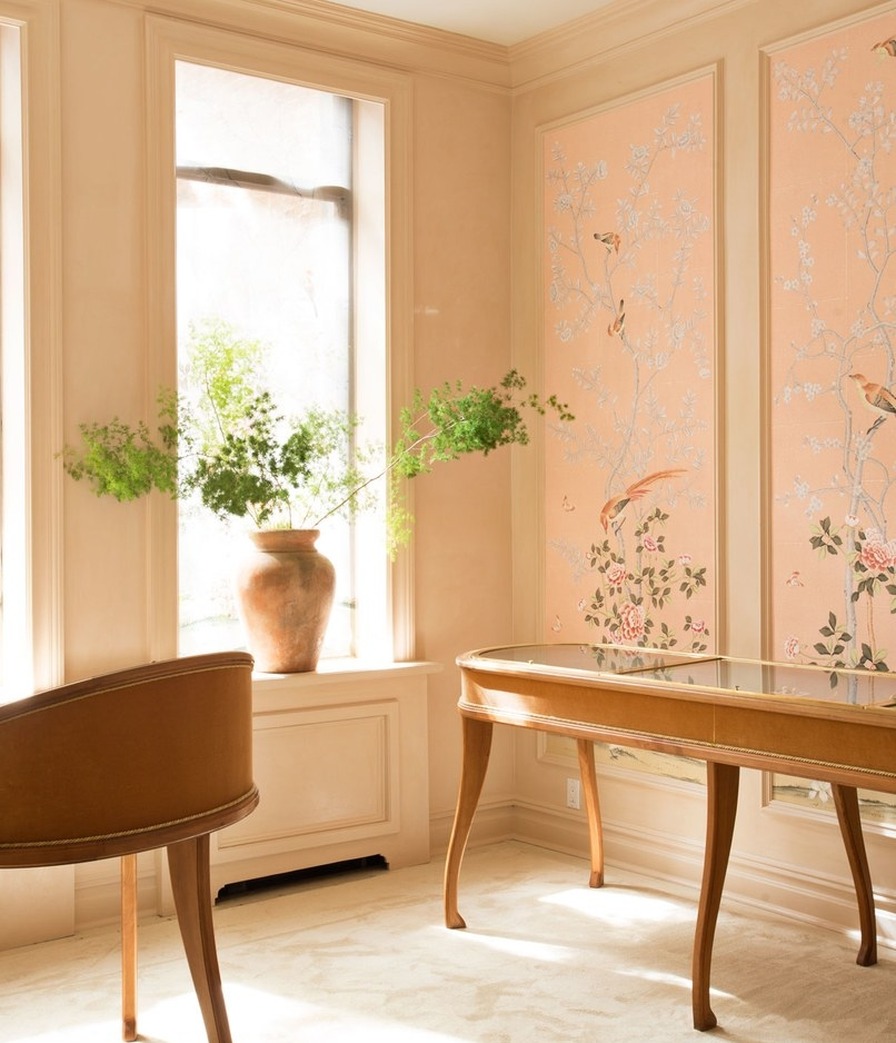 framed wallpaper panel de gournay moda operandi lauren santo domingo moda operandi