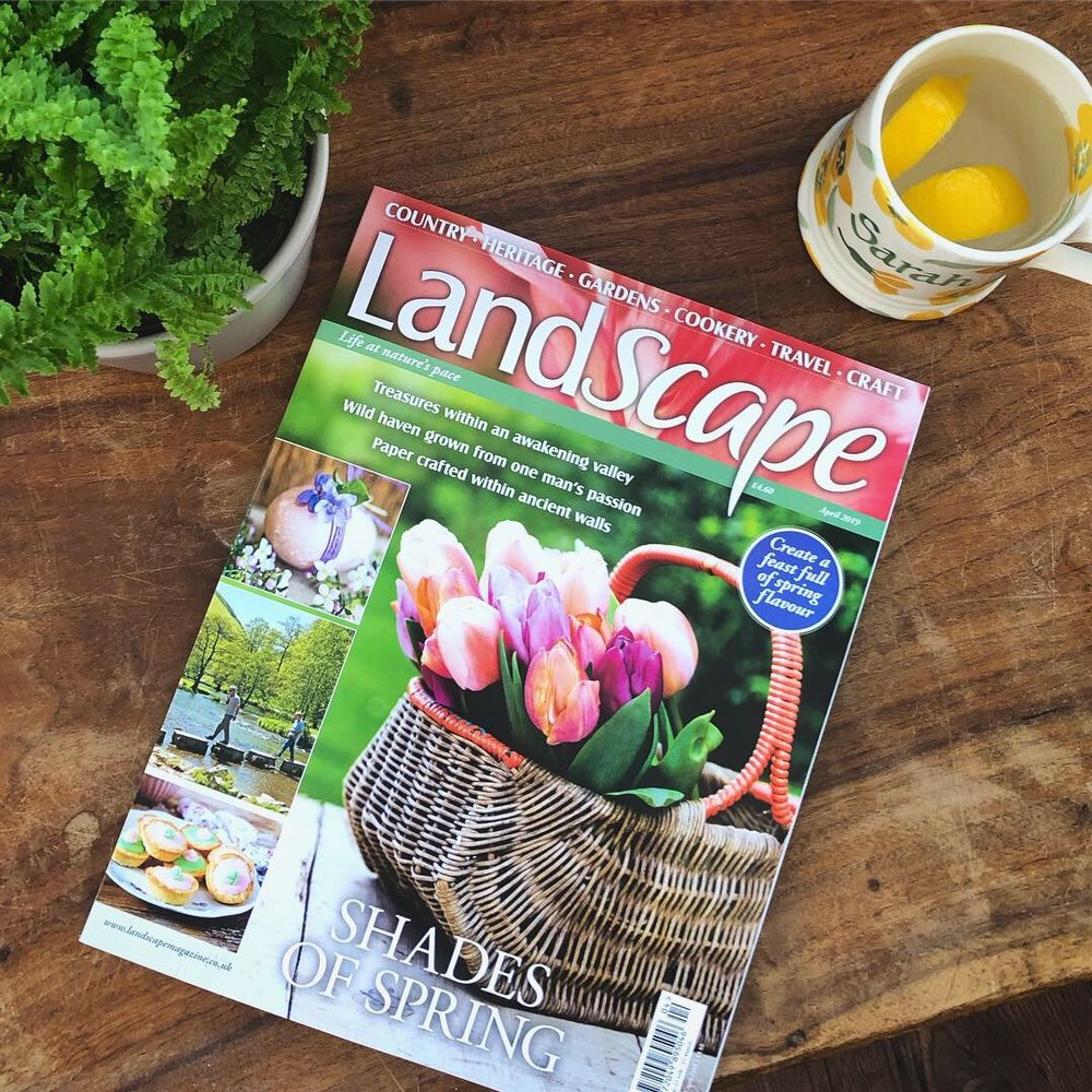 landscape magazine flat lay april 2019