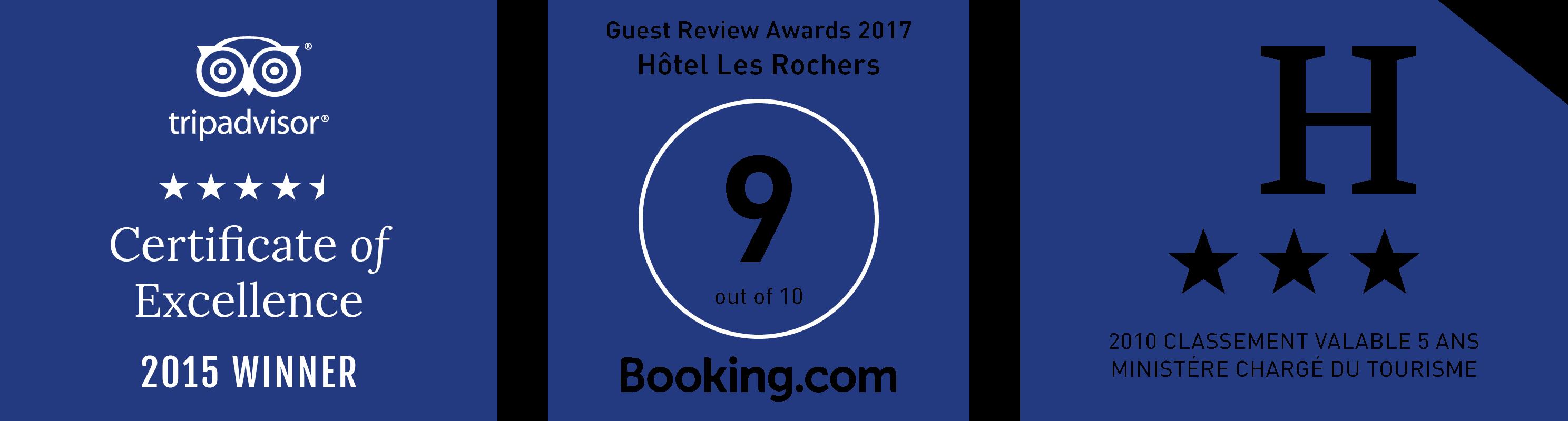 Hôtel les Rochers Ratings