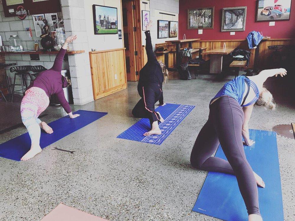 Yoga and Cider at Lockhorn cider house