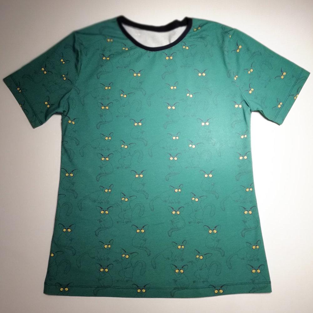 Fabric: Jersey of Motiflow, Bushbabies - Alhambra