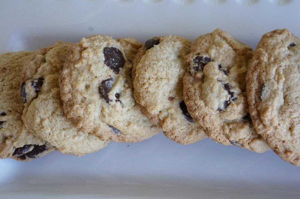 Gluten Free Chocolate Chip Cookies   $18 per dozen