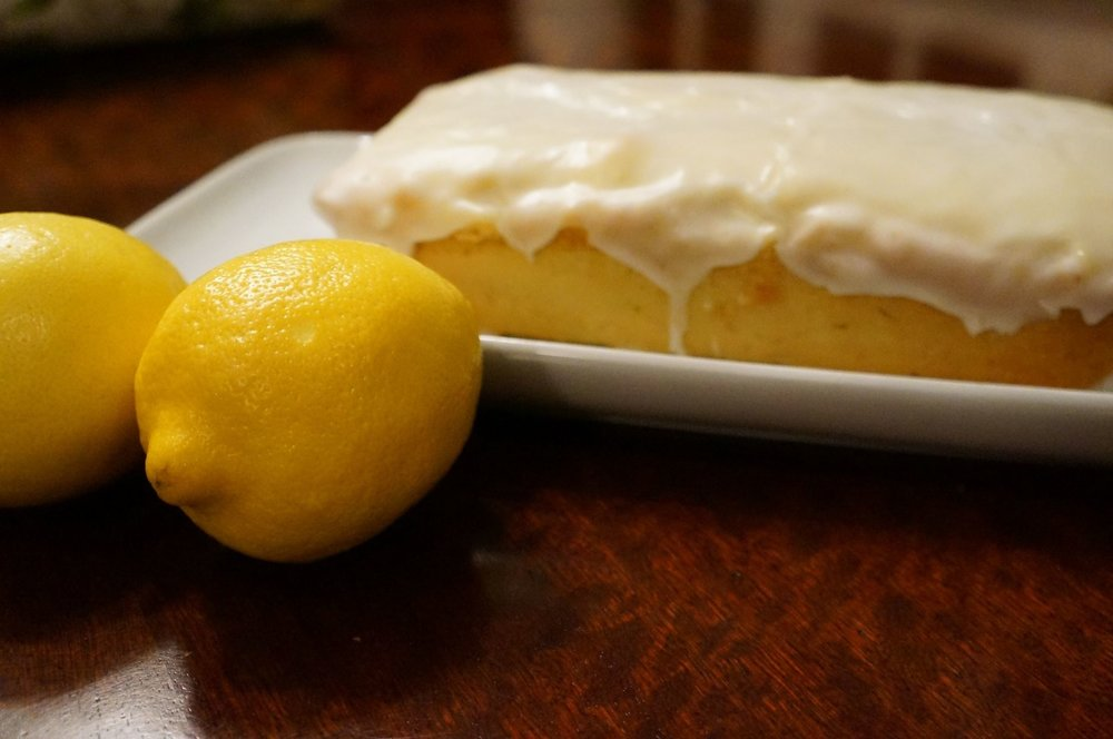 Gluten Free Iced Lemon Pound Cake (9 slices)   $15