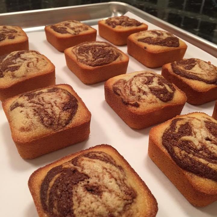 Gluten Free French Financiers with Hazelnut Swirl   $36 per dozen