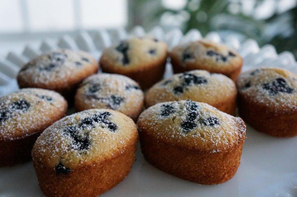 Gluten Free French Blueberry Lemon Friands   $36 per dozen