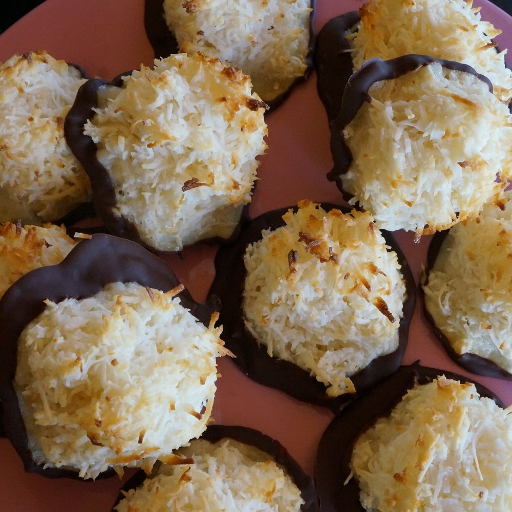 Gluten Free Macaroons   $21 dozen with chocolate, $18 without chocolate