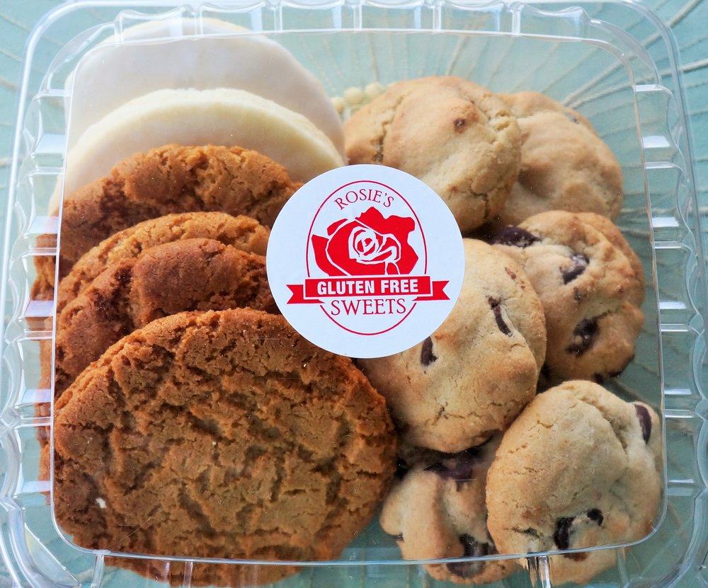 A Dozen Rosie's Assorted Gluten Free Cookies   $18 per dozen