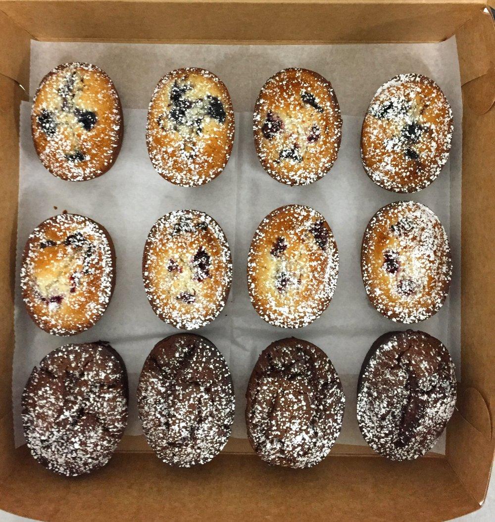 A Dozen Rosie's Assorted Gluten Free Friands   $36 per dozen