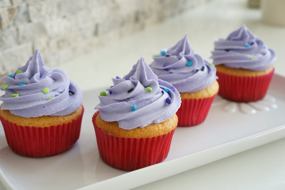 Gluten Free & Dairy Free Vanilla Cupcakes w GF/DF Buttercream frosting   $30 per dozen