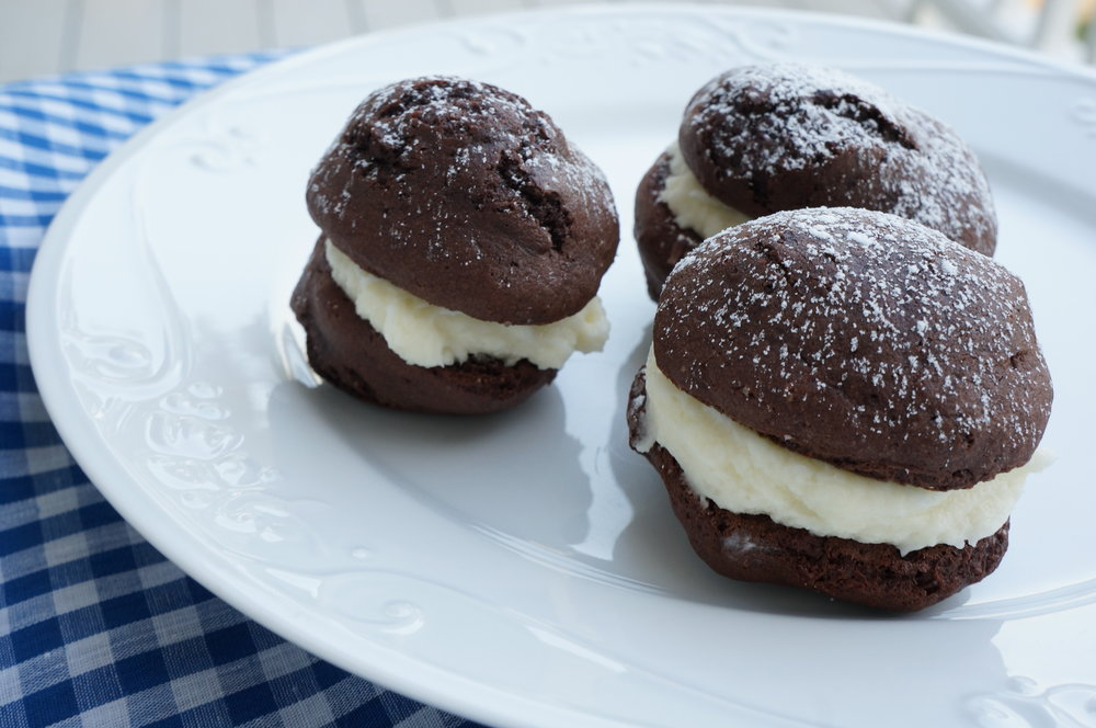 Gluten Free Mini Chocolate Whoopie Pies   $30 per dozen