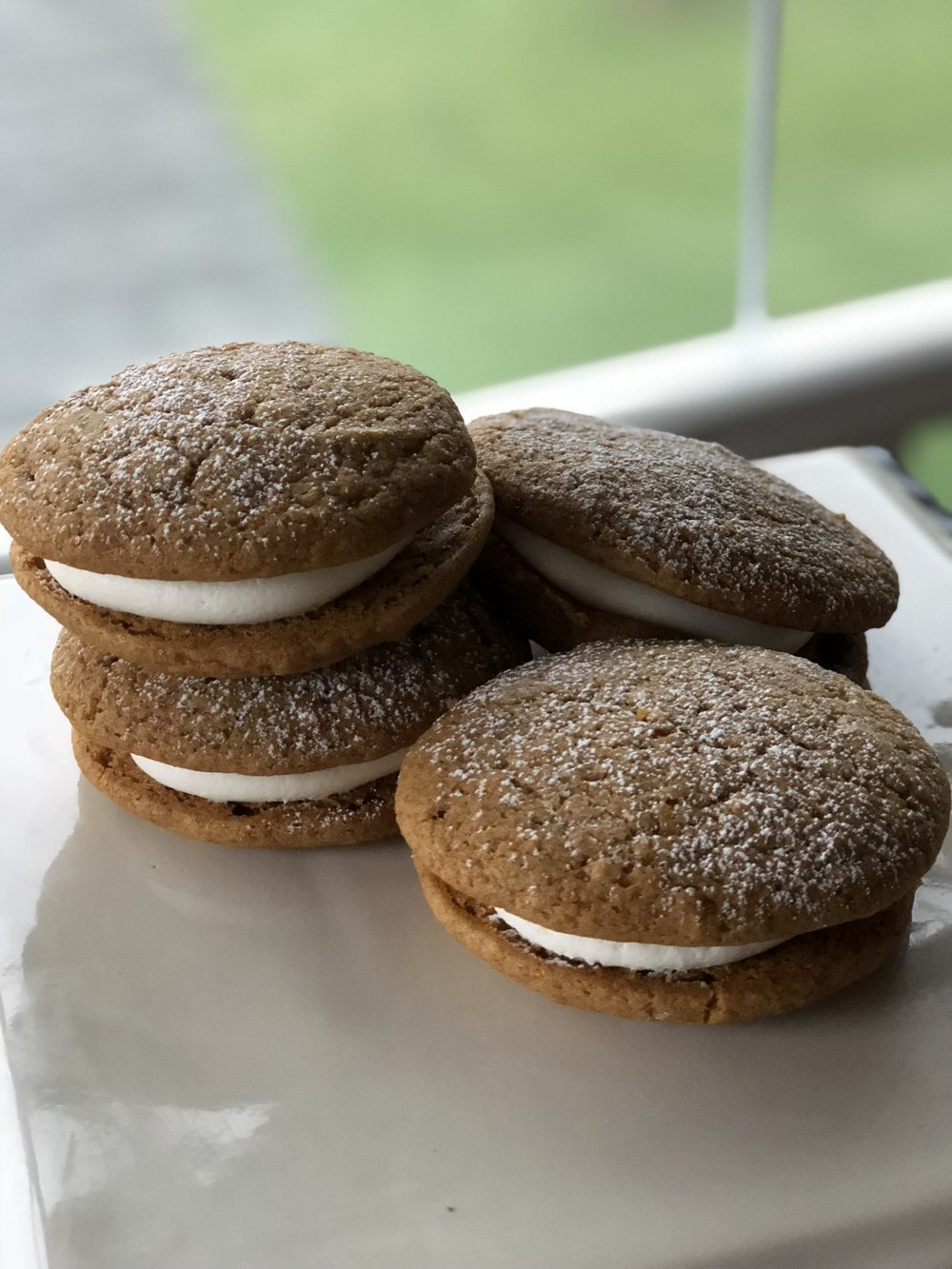 Seasonal Gluten & Dairy Free Pumpkin Whoopie Pies with DF Cream Cheese Filling  $30 per dozen  $15.00 per 1/2 dozen