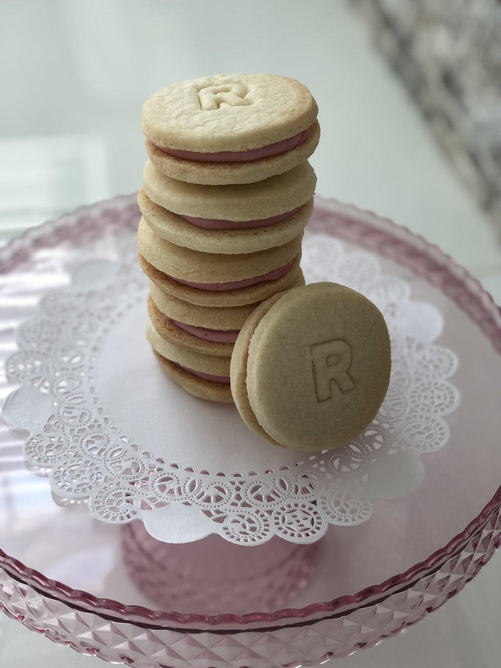 Gluten, Dairy & Soy Free Rosie Signature Sugar Sandwich Cookie with DF Buttercream Center  $27 per one dozen  $15 per 1/2 dozen