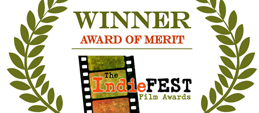 IndieFestLaurel award of merit.png