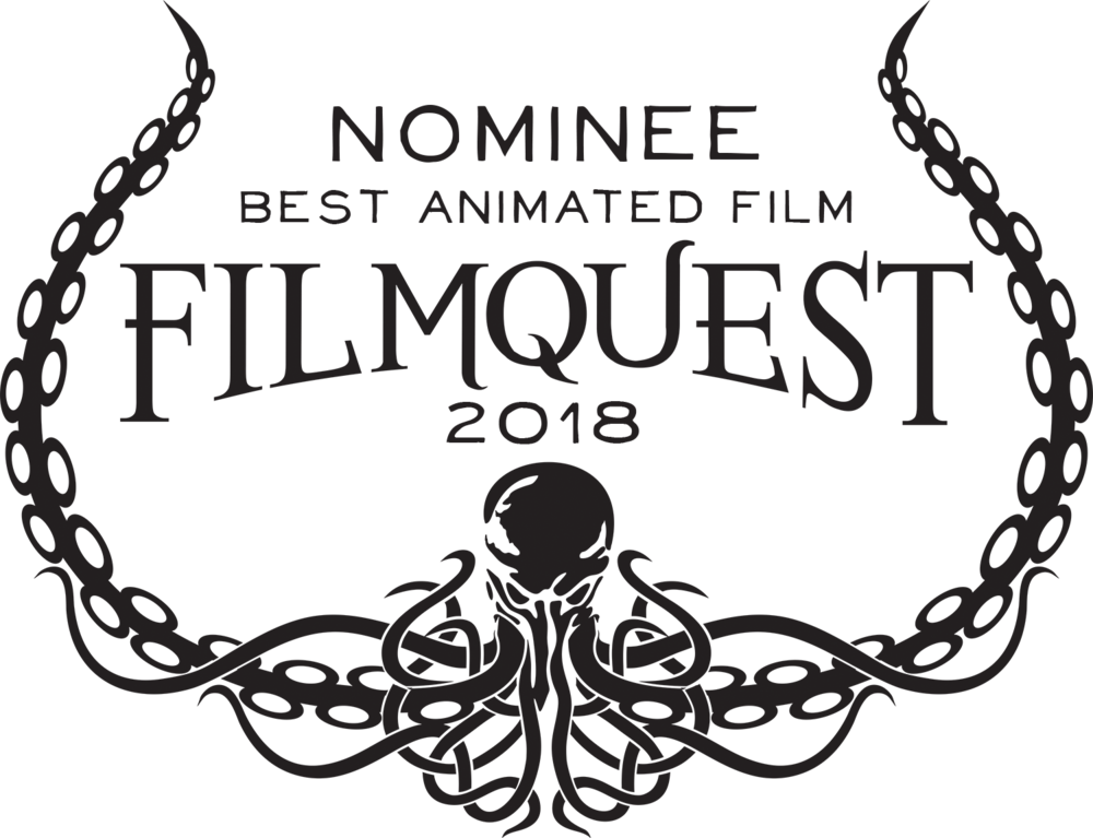 Meeting MacGuffin is a  nominee for BEST ANIMATED FILM  at FilmQuest! and screens on September 12th,2018, 5:30 with the feature  Dementia 2.