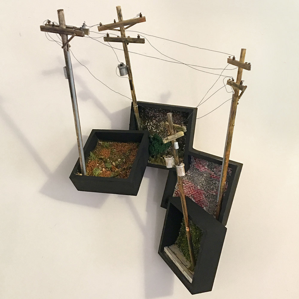 Bouquet 1 (2017)  24 x 16 x 12 inches  wood, plastic, found objects, wire, acrylic paint