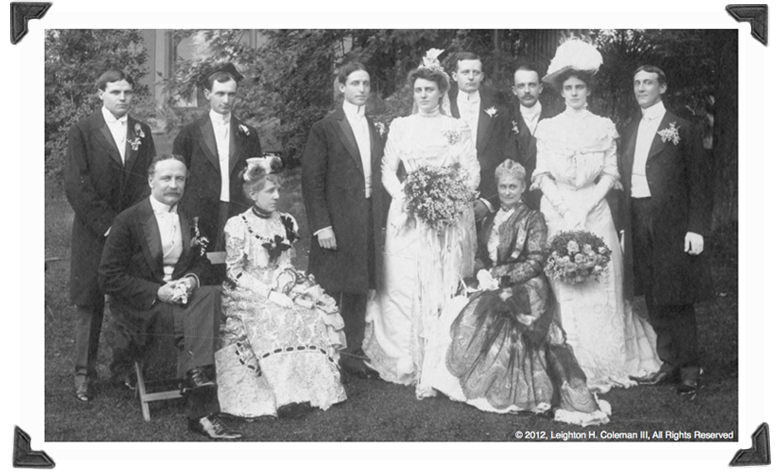Spedden-Corning Wedding June 10th, 1900, Morristown, NJ