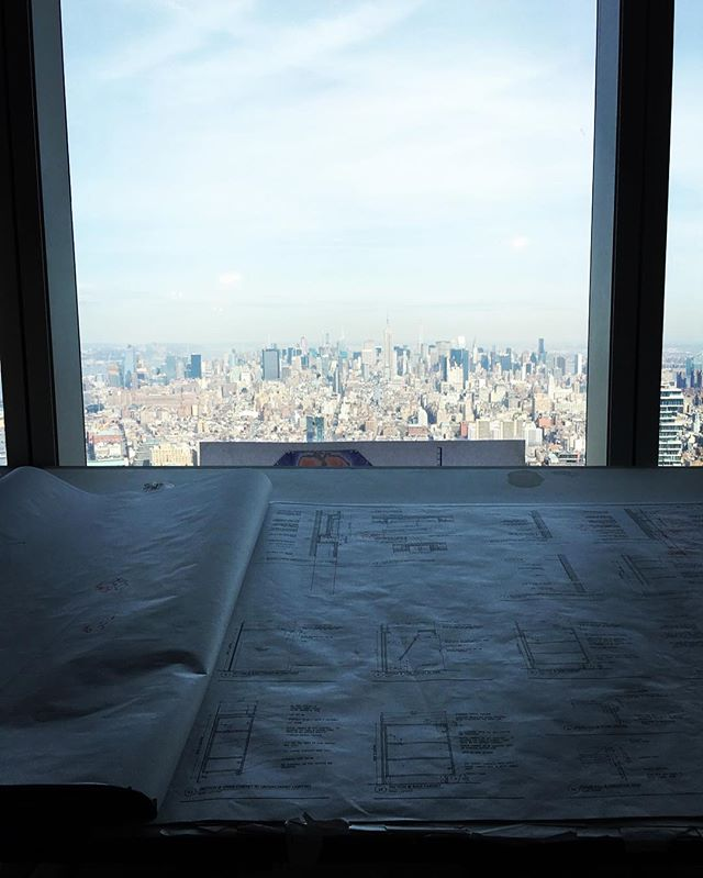 Jobsite with a view today! Checking in on a couple projects on the 78th and 86th floors of One World Trade Center 🇺🇸🏙