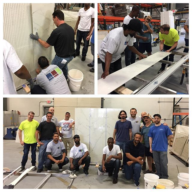 A few shots from our porcelain panel training on Friday. Thanks @porcelainsource_nyc for coming out and showing us the ropes!