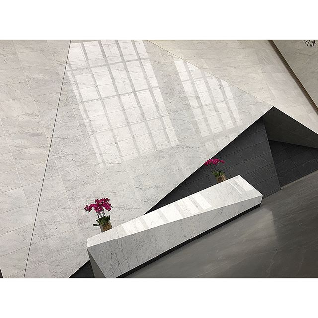 Here are a few photos from @robmccons visit to Shanghai, China, where our sister company CSCE Services is sourcing and managing the stone supply for six building lobbies! Material: Select White Carrara Marble Walls, Jet Mist Granite Floors.