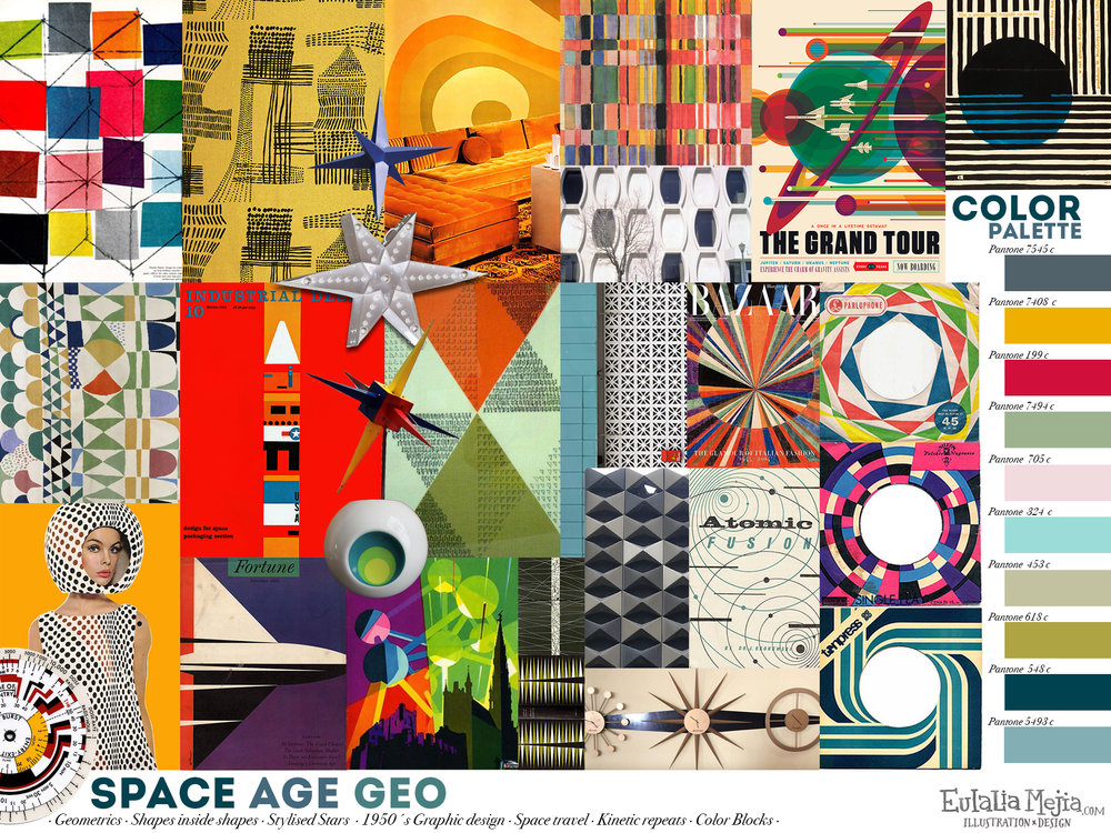 Space Age Geo Trend Board