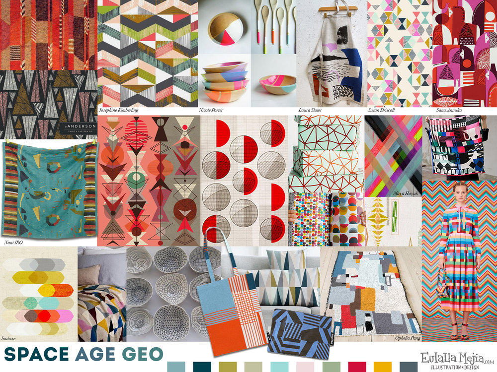 Space Age Geo Mood Board