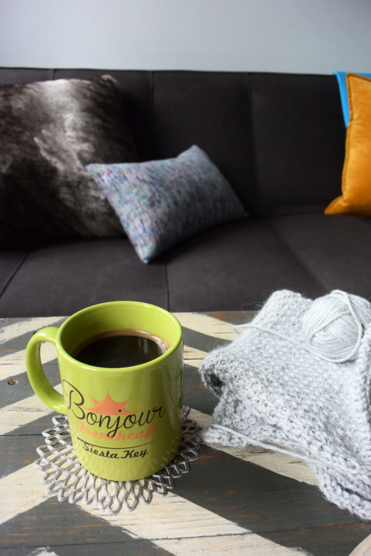 I love using my bright, cheery mugs in this space - they work as excellent color accents!