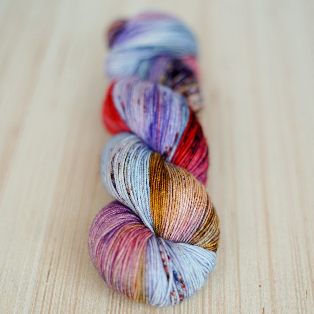 A SKEIN HAS NO NAME; yarn & photo by Woolen Boon.
