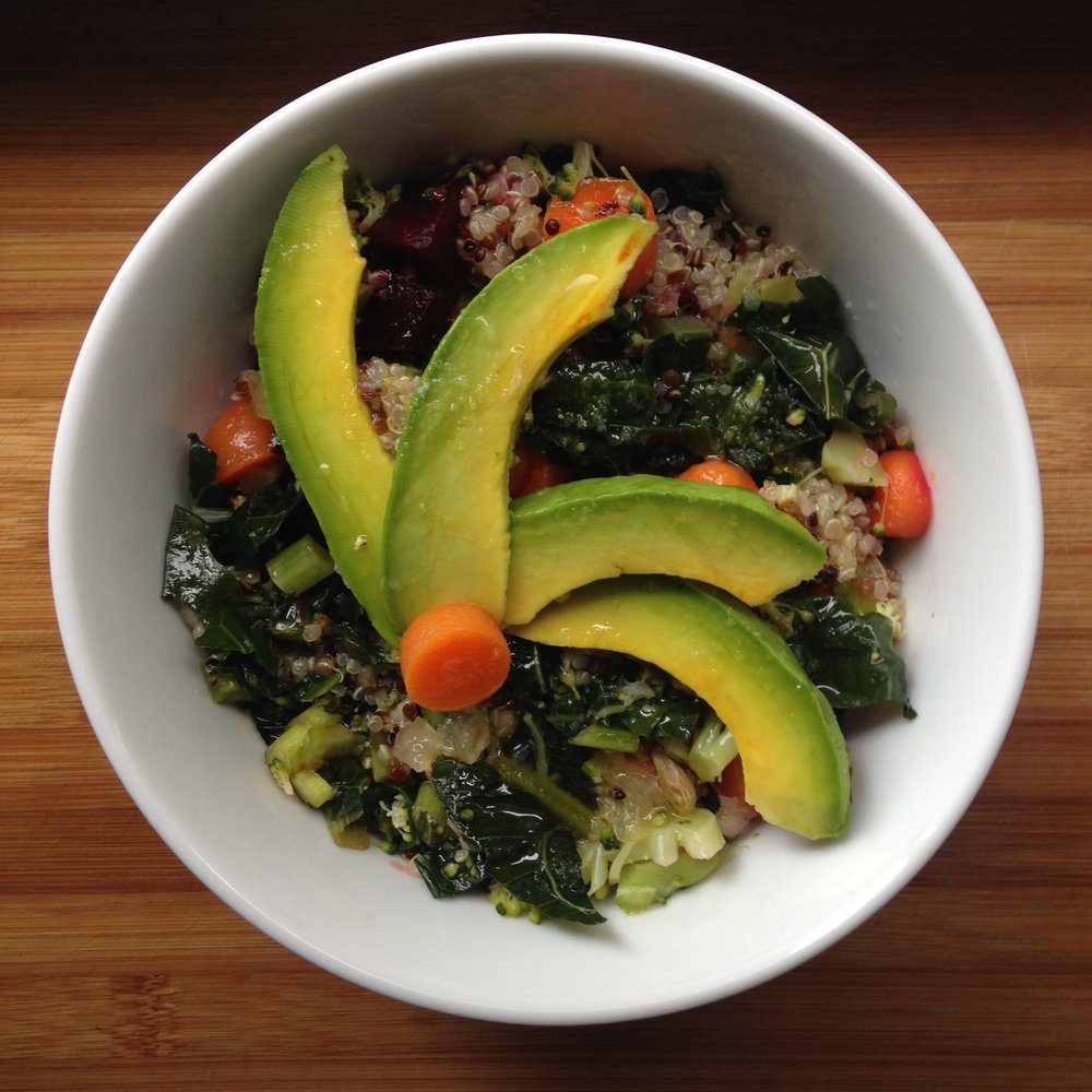 super quinoa (leftover) bowl
