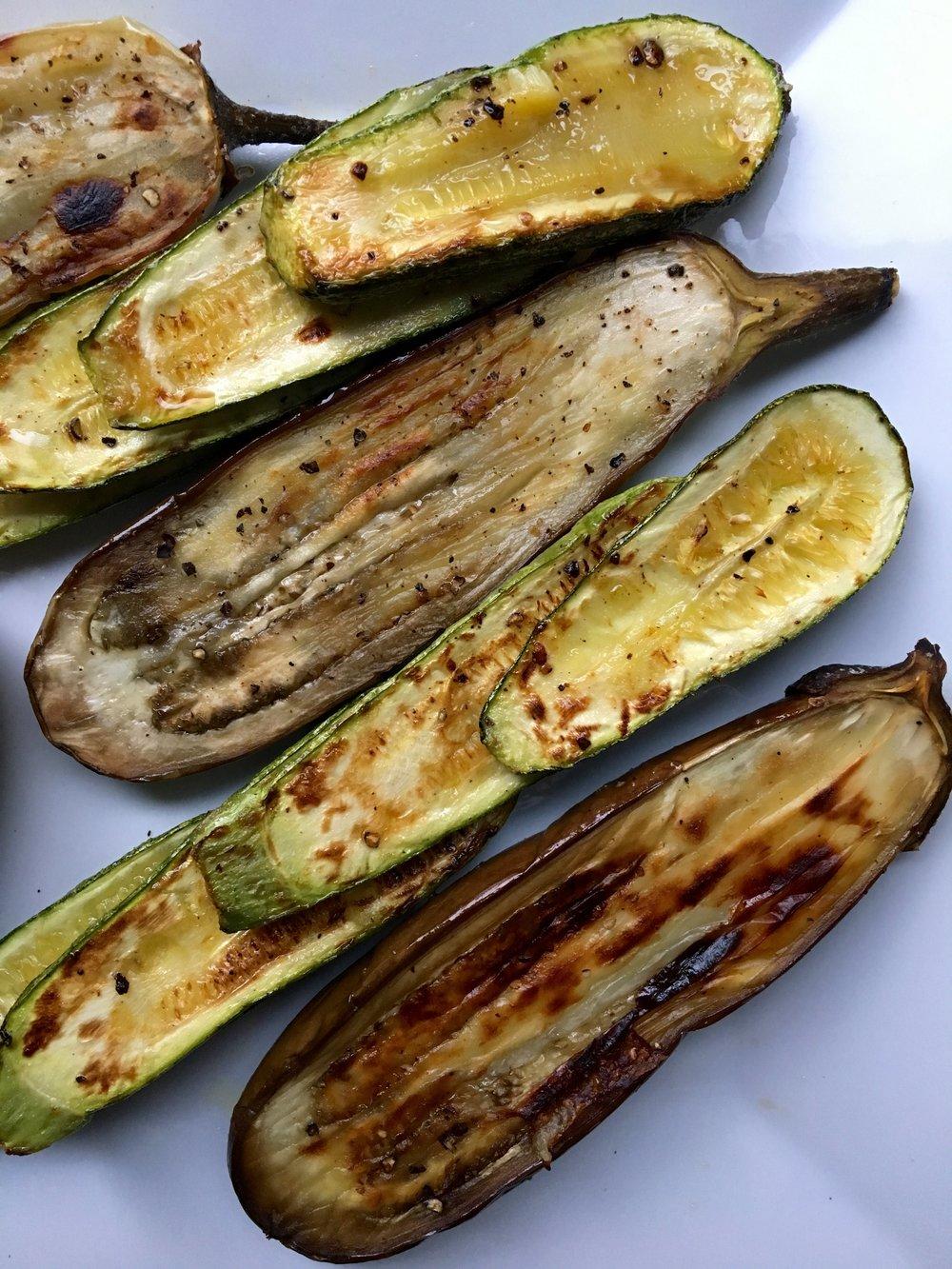 Roasted Eggplant + Zucchini