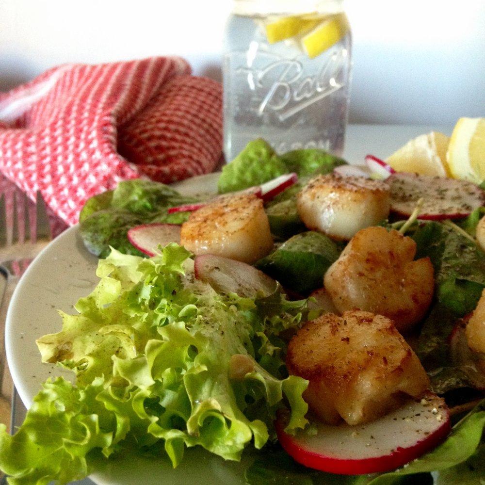 Pan Seared Scallop Salad